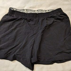 Black Columbia Nylon Hiking Shorts Zip Up Pocket